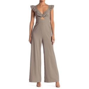 NWT Sugar + Lips cutout ruffle jumpsuit